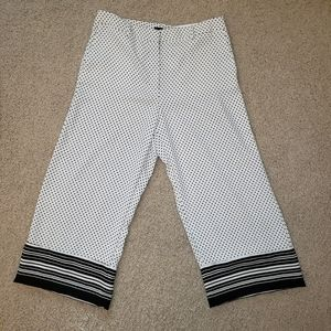 Ann Taylor Factory Drapery Wide Leg Crop Pants NWT